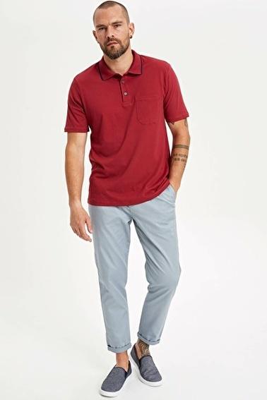 DeFacto Relax Fit Polo T-shirt Bordo